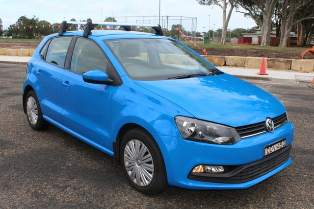 Used Volkswagen Polo 6R MY16 66TSI DSG Trendline, 2015 Volkswagen Polo 6R MY16 66TSI DSG Trendline Blue 7 Speed Sports Automatic Dual Clutch Hatchback