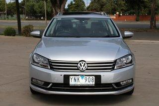 2011 Volkswagen Passat 3C MY11 125 TDI Highline Silver 6 Speed Direct Shift Wagon.