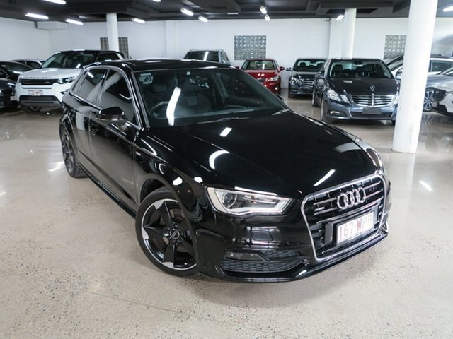 Used Audi A3 8V MY16 Ambition Sportback S Tronic Quattro, 2015 Audi A3 8V MY16 Ambition Sportback S Tronic Quattro Black 6 Speed Sports Automatic Dual Clutch