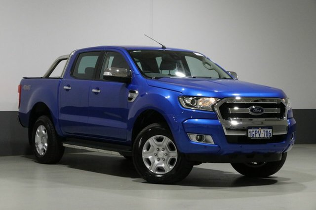 Used Ford Ranger PX MkII MY18 XLT 3.2 (4x4), 2018 Ford Ranger PX MkII MY18 XLT 3.2 (4x4) Blue 6 Speed Automatic Dual Cab Utility
