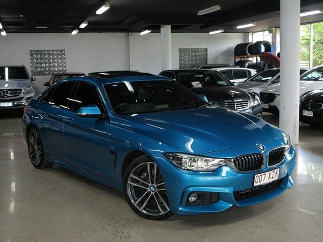 Used BMW 4 Series F36 LCI 430i Gran Coupe M Sport, 2018 BMW 4 Series F36 LCI 430i Gran Coupe M Sport Snapper Rocks Blue Metallic 8 Speed