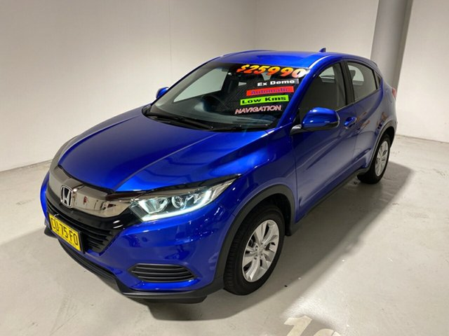 Used Honda HR-V MY19 VTi, 2019 Honda HR-V MY19 VTi Blue 1 Speed Constant Variable Hatchback