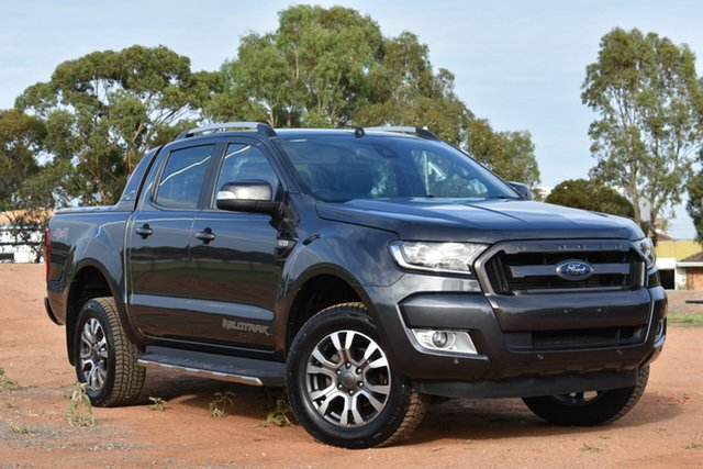Used Ford Ranger PX MkII Wildtrak Double Cab, 2016 Ford Ranger PX MkII Wildtrak Double Cab Grey 6 Speed Sports Automatic Utility