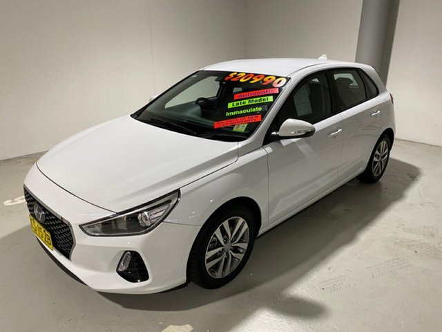 Used Hyundai i30 PD2 MY19 Active, 2018 Hyundai i30 PD2 MY19 Active White 6 Speed Sports Automatic Hatchback