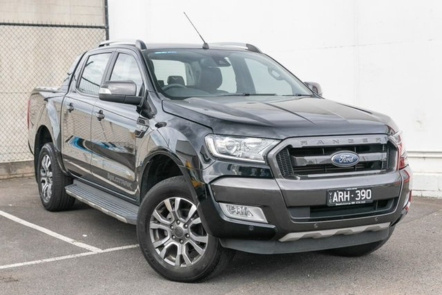 Used Ford Ranger PX MkII Wildtrak Double Cab, 2017 Ford Ranger PX MkII Wildtrak Double Cab Black 6 Speed Sports Automatic Utility