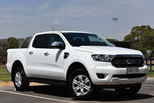 Used Ford Ranger PX MkIII 2019.00MY XLT Pick-up Double Cab, 2019 Ford Ranger PX MkIII 2019.00MY XLT Pick-up Double Cab White 10 Speed Sports Automatic Utility