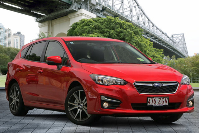Demo Subaru Impreza G5 MY19 2.0i-L CVT AWD, 2019 Subaru Impreza G5 MY19 2.0i-L CVT AWD Pure Red 7 Speed Constant Variable Hatchback