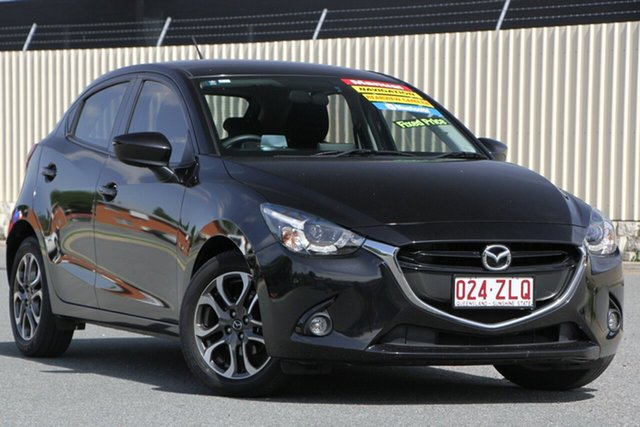 Used Mazda 2 DJ2HA6 Genki SKYACTIV-MT, 2016 Mazda 2 DJ2HA6 Genki SKYACTIV-MT Black 6 Speed Manual Hatchback