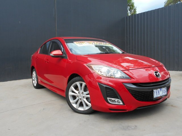 Used Mazda 3 BL 10 Upgrade SP25, 2010 Mazda 3 BL 10 Upgrade SP25 Red 5 Speed Automatic Sedan