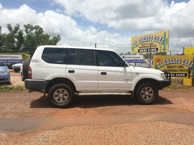 Used Toyota Landcruiser Prado RZJ95R RV (4x4), 1998 Toyota Landcruiser Prado RZJ95R RV (4x4) White 5 Speed Manual Wagon