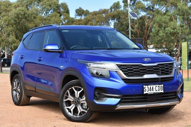 Demo Kia Seltos SP2 MY20 Sport+ DCT AWD, 2019 Kia Seltos SP2 MY20 Sport+ DCT AWD Neptune Blue 7 Speed Sports Automatic Dual Clutch Wagon