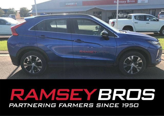 Demo Mitsubishi Eclipse Cross YA MY18 ES Sport Edition, 2018 Mitsubishi Eclipse Cross YA MY18 ES Sport Edition Lightning Blue Continuous Variable Wagon