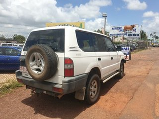 1998 Toyota Landcruiser Prado RZJ95R RV (4x4) White 5 Speed Manual Wagon.