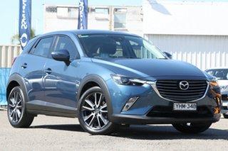 2017 Mazda CX-3 DK2W76 sTouring SKYACTIV-MT Blue 6 Speed Manual Wagon.