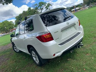 2010 Toyota Kluger GSU45R KX-R AWD White 5 Speed Sports Automatic Wagon