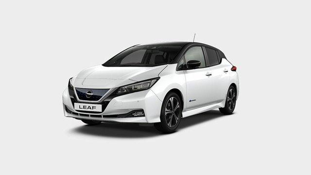 New Nissan Leaf ZE1 Moorooka, 2019 Nissan Leaf ZE1 Ivory Pearl & Black Roof 1 Speed Reduction Gear Hatchback
