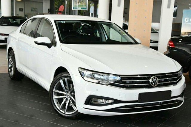 New Volkswagen Passat 3C (B8) MY21 140TSI DSG Business Newstead, 2021 Volkswagen Passat 3C (B8) MY21 140TSI DSG Business Pure White 7 Speed