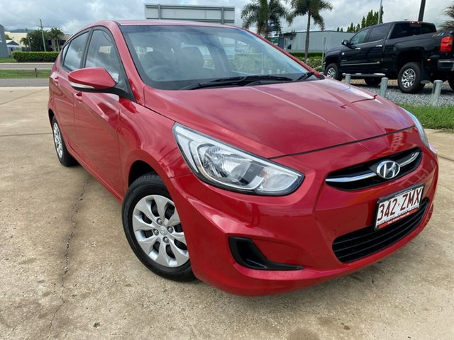 Used Hyundai Accent RB3 MY16 Active, 2016 Hyundai Accent RB3 MY16 Active Red 6 Speed Constant Variable Hatchback