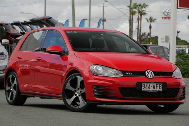 Used Volkswagen Golf VII MY14 GTi, 2013 Volkswagen Golf VII MY14 GTi Red 6 Speed Manual Hatchback
