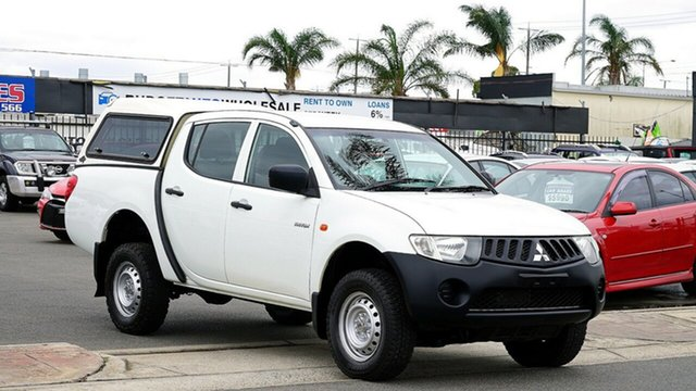 Used Mitsubishi Triton ML MY09 GLX Double Cab, 2008 Mitsubishi Triton ML MY09 GLX Double Cab White 5 Speed Manual Utility