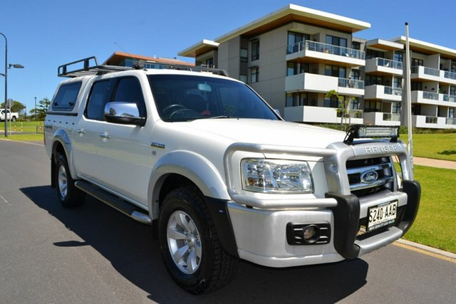 Used Ford Ranger PJ XLT Crew Cab, 2008 Ford Ranger PJ XLT Crew Cab White 5 Speed Manual Utility