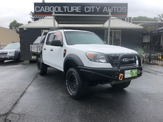 Used Ford Ranger PK XL (4x4), 2009 Ford Ranger PK XL (4x4) White 5 Speed Manual Dual Cab Chassis
