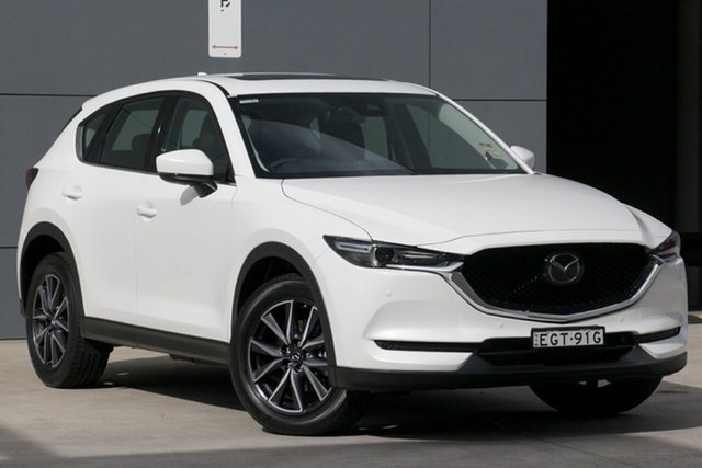 Demo Mazda CX-5 KF4WLA GT SKYACTIV-Drive i-ACTIV AWD, 2019 Mazda CX-5 KF4WLA GT SKYACTIV-Drive i-ACTIV AWD Snowflake White 6 Speed Sports Automatic Wagon
