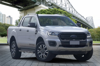2018 Ford Ranger PX MkIII 2019.00MY Wildtrak Pick-up Double Cab Silver 6 Speed Manual Utility.