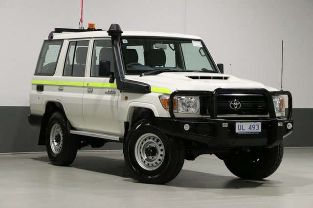 Used Toyota Landcruiser VDJ76R MY18 Workmate (4x4), 2019 Toyota Landcruiser VDJ76R MY18 Workmate (4x4) White 5 Speed Manual Wagon