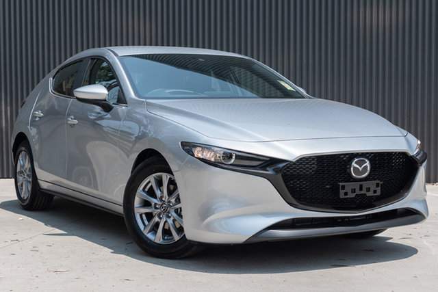 New Mazda 3 BP2H7A G20 SKYACTIV-Drive Pure, 2019 Mazda 3 BP2H7A G20 SKYACTIV-Drive Pure Sonic Silver 6 Speed Sports Automatic Hatchback