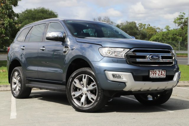 Used Ford Everest UA Titanium 4WD, 2016 Ford Everest UA Titanium 4WD Blue 6 Speed Sports Automatic Wagon