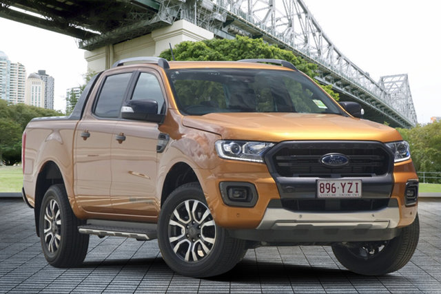 Used Ford Ranger PX MkIII 2019.00MY Wildtrak Pick-up Double Cab, 2019 Ford Ranger PX MkIII 2019.00MY Wildtrak Pick-up Double Cab Orange 6 Speed Sports Automatic