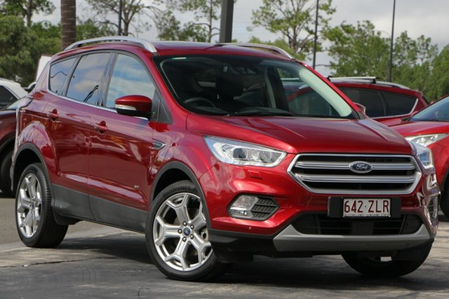Used Ford Escape ZG 2019.25MY Titanium PwrShift AWD, 2018 Ford Escape ZG 2019.25MY Titanium PwrShift AWD Red 6 Speed Sports Automatic Dual Clutch Wagon