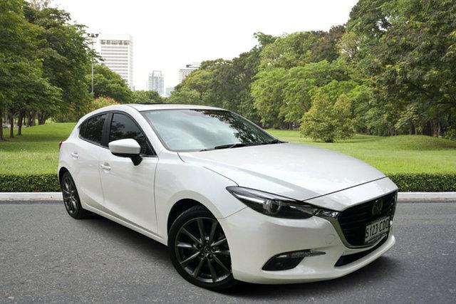 Used Mazda 3 BN5438 SP25 SKYACTIV-Drive Astina, 2017 Mazda 3 BN5438 SP25 SKYACTIV-Drive Astina White 6 Speed Sports Automatic Hatchback