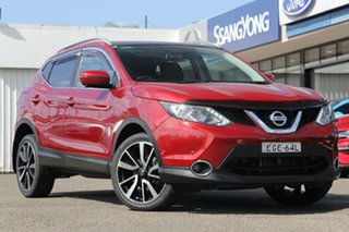 2016 Nissan Qashqai J11 TI Burgundy 1 Speed Constant Variable Wagon.