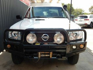 2013 Nissan Patrol Y61 GU 6 SII MY13 DX White 5 Speed Manual Cab Chassis.