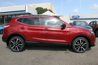 2016 Nissan Qashqai J11 TI Burgundy 1 Speed Constant Variable Wagon