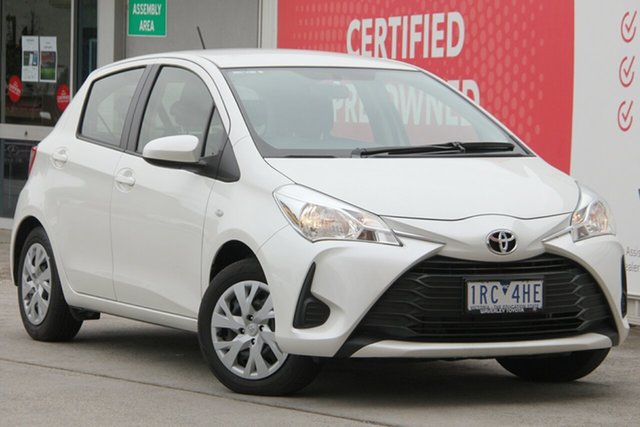 Used Toyota Yaris NCP130R Ascent, 2018 Toyota Yaris NCP130R Ascent Crystal Pearl 4 Speed Automatic Hatchback