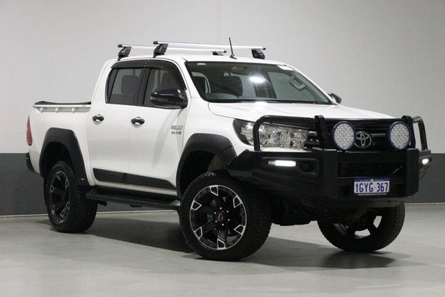 Used Toyota Hilux GUN126R MY17 SR (4x4), 2017 Toyota Hilux GUN126R MY17 SR (4x4) White 6 Speed Automatic Dual Cab Utility