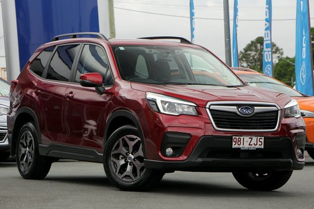 Demo Subaru Forester S5 MY20 2.5i-L CVT AWD, 2019 Subaru Forester S5 MY20 2.5i-L CVT AWD Crimson Red 7 Speed Wagon