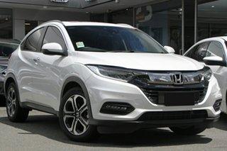 2019 Honda HR-V MY20 VTi-LX Platinum White 1 Speed Constant Variable Hatchback.