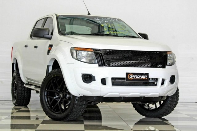 Used Ford Ranger PX XL 2.2 Hi-Rider (4x2), 2015 Ford Ranger PX XL 2.2 Hi-Rider (4x2) White 6 Speed Automatic Crew Cab Pickup