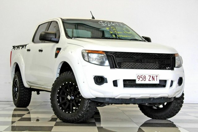 Used Ford Ranger PX XL 2.2 Hi-Rider (4x2), 2014 Ford Ranger PX XL 2.2 Hi-Rider (4x2) White 6 Speed Automatic Crew Cab P/Up
