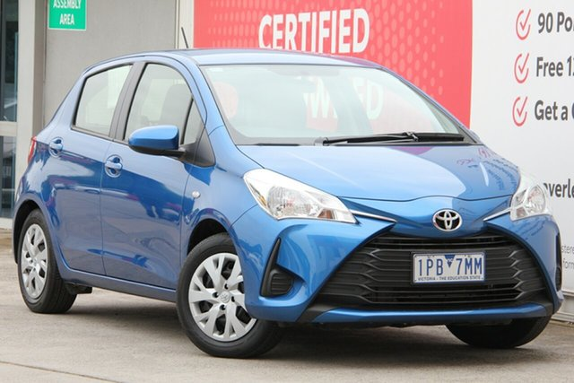 Used Toyota Yaris NCP130R Ascent, 2019 Toyota Yaris NCP130R Ascent Tidal Blue 4 Speed Automatic Hatchback