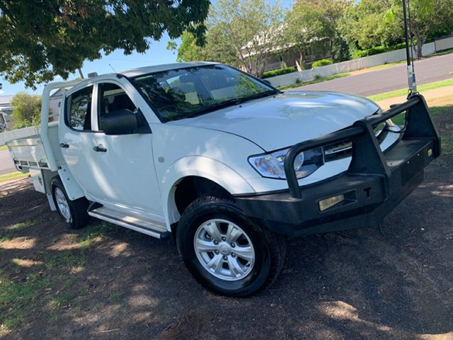 Used Mitsubishi Triton MN MY14 GLX Double Cab, 2013 Mitsubishi Triton MN MY14 GLX Double Cab White 5 Speed Manual Utility