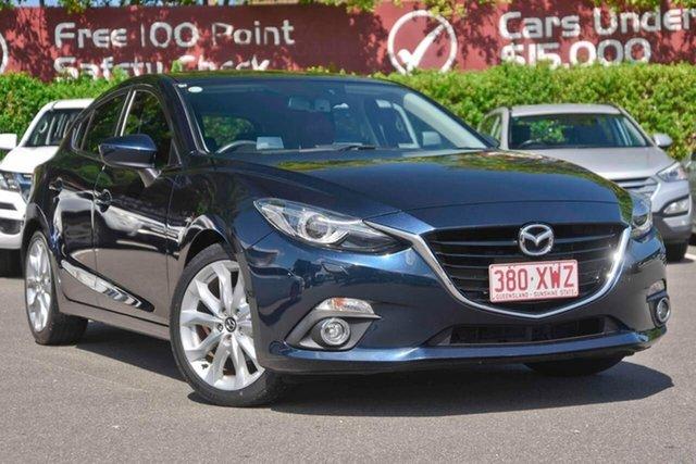 Used Mazda 3 BM5438 SP25 SKYACTIV-Drive GT, 2015 Mazda 3 BM5438 SP25 SKYACTIV-Drive GT Blue 6 Speed Sports Automatic Hatchback