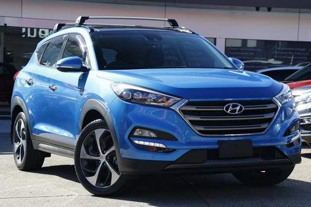 Used Hyundai Tucson TLE Highlander (AWD), 2016 Hyundai Tucson TLE Highlander (AWD) Blue 7 Speed Auto Dual Clutch Wagon