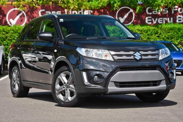 Used Suzuki Vitara LY RT-S 2WD, 2016 Suzuki Vitara LY RT-S 2WD Black 6 Speed Sports Automatic Wagon