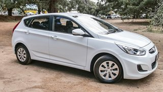 2015 Hyundai Accent RB3 MY16 Active White 6 Speed Constant Variable Hatchback.