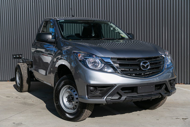 Demo Mazda BT-50 UR0YE1 XT 4x2, 2019 Mazda BT-50 UR0YE1 XT 4x2 Aluminium 6 Speed Manual Cab Chassis